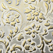 Panel sibu floral white gold matt