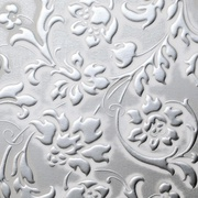 Panel sibu floral white silver matt